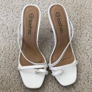 NEW boohoo white heel